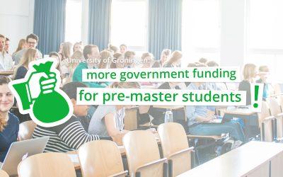 Open brief gestuurd aan minister over financiering pre-masterstudenten