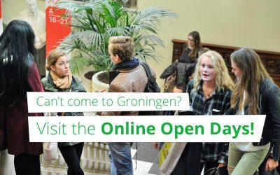 Groningen te ver weg? Bezoek de online open dagen!