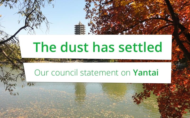 Het stof is neergedaald: onze woordvoering over Yantai