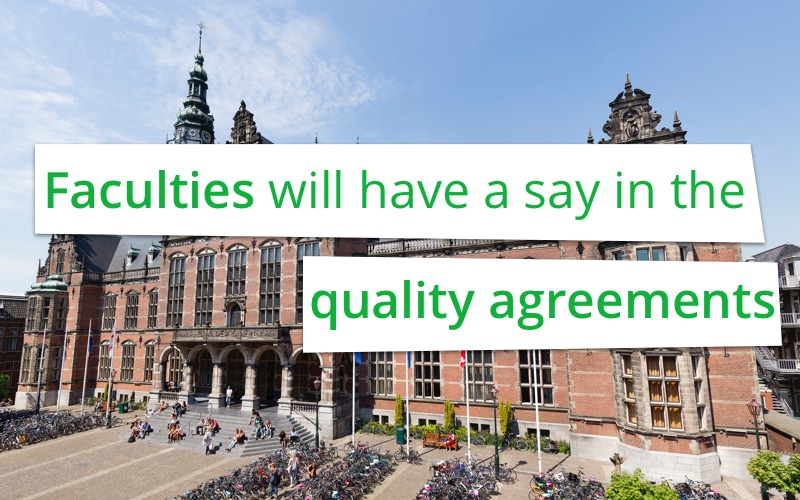 Faculties will have a say in the quality agreements