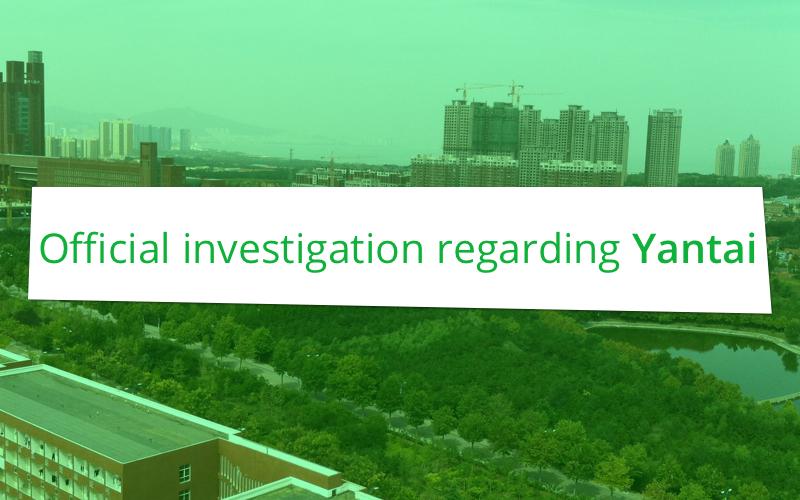 Official investigation regarding Yantai