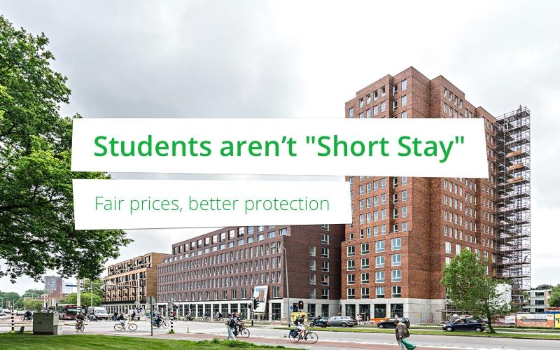 """Studenten zijn niet """"Short-Stay"""""""