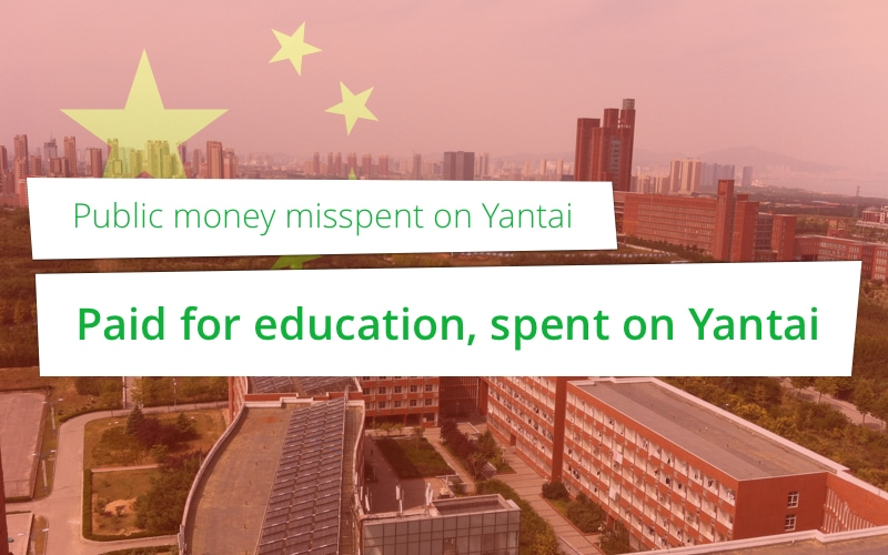 Paid for education, spent on Yantai – Public money misspent on Yantai