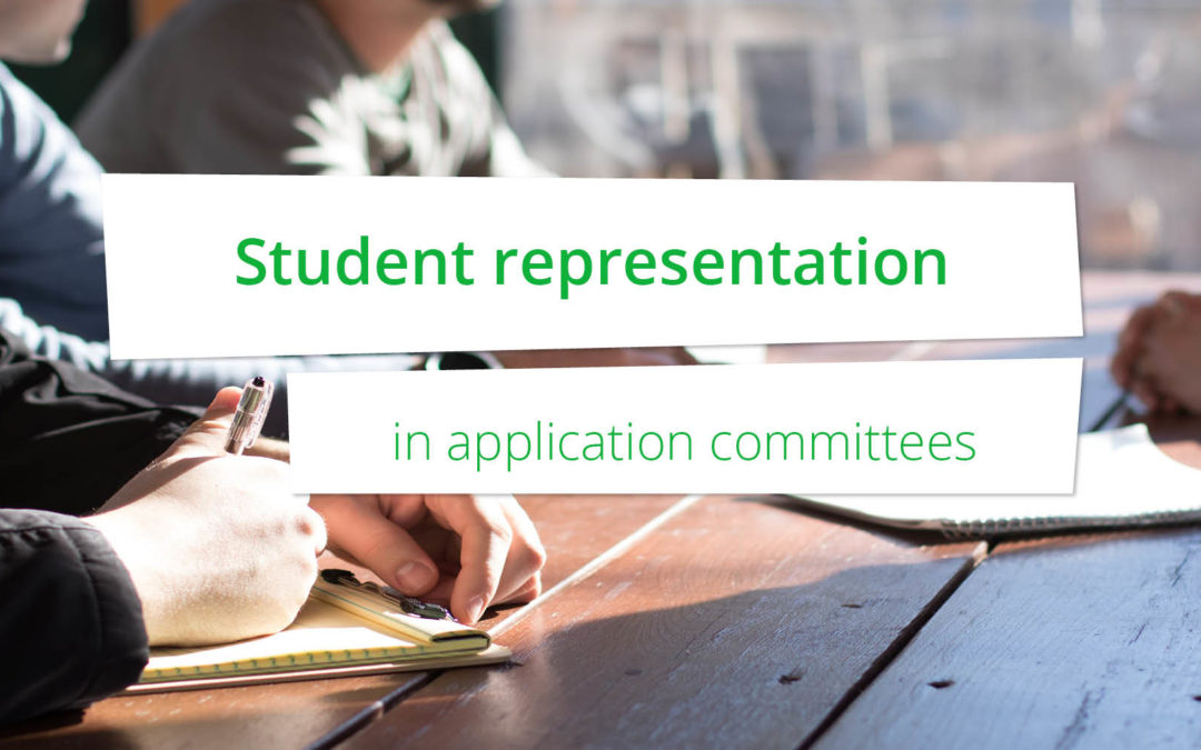 Democratic student representation in application committees